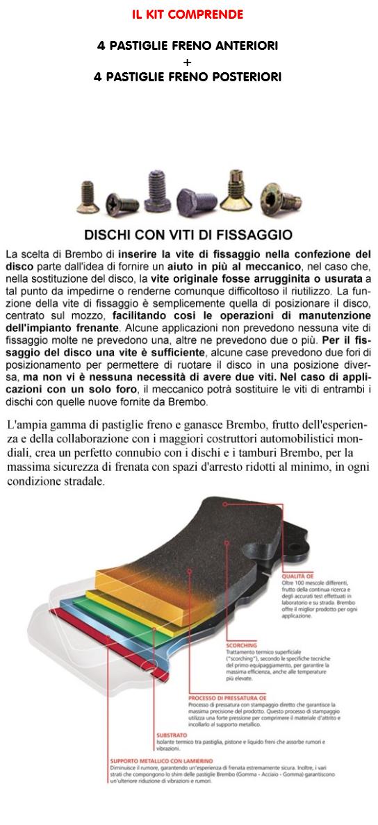 BREMBO PASTIGLIE FRENO POSTERIORE HYUNDAI ix35 TUCSON KIA SPORTAGE QL SL